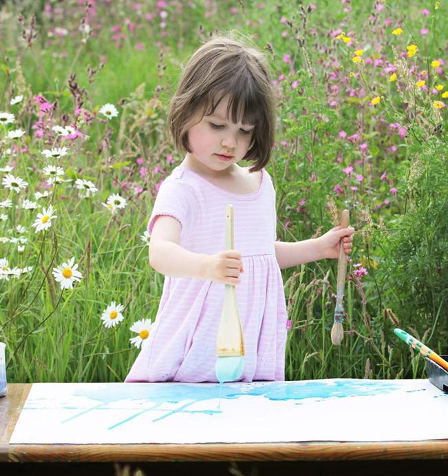 自閉症児のお絵描き