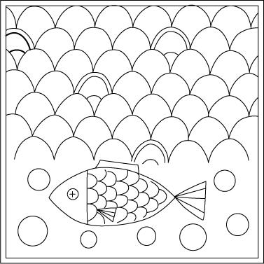 刺し子 図案 無料 ダウンロード 魚